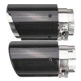 66mm 89mm Fibra de carbono Preto Universal Car Escape Tips Silenciador Pipe Tail End