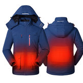 Smart USB Electric Waschbar Heizmäntel Kapuzenpullover Jacke Winter Warm Coat