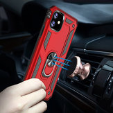 Bakeey Armor Magnetic 360 Degree Rotating Ring Holder PC Shockproof Protective Case for iPhone 11 6.1 inch