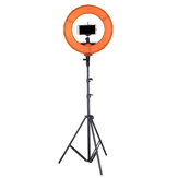 12 Inch Dimmable LED Video Ring Light dengan Diffuser Tripod Stand Holder untuk Youtube Tik Tok Streaming Langsung