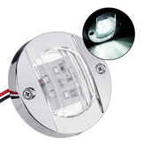 12V LED Work Light Marine Yacht Stern Lights Chrome Transom Mount Navigation