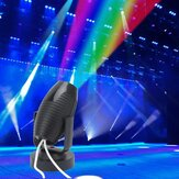 1W RGB LED Colorful Etapa Lámpara Negro Spot Light para Disco KTV Party AC110-220V