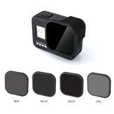 RCSTQ CPL ND8 ND16 ND32 Kit de filtro de lente para GoPro Hero 8 Câmera FPV preta