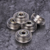 15pcs Transparent Pulley Wheel mit 625zz Doppellager für V-Slot 3D-Drucker