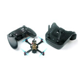 Everyine Novice-II 1-2S 2.5 بوصة FPV Racing Drone RTF & Fly more w / WT8 2.4G Transmitter 5.8Ghz 40CH VR009 Goggles