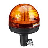 Amber 40 LED 12V-24V Noodwaarschuwing Flash Stroboscoop Roterend Tractorlicht Bakenherstel Waarschuwingssignaallicht