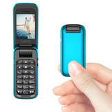 L8star BM60 1.1 Inch 300mAh bluetooth Panggilan MP3 Player FM Magic Voice Tunggal SIM Flip Music Mini Card Phone