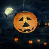 Solar Powered LED Pumpkin Night Light Lantern Hanging Lamp Halloween Decor