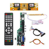T.SK106A.03 Universele LCD LED TV Controller Driver Board TV / PC / VGA / HDMI / USB + 7 Key Button + 2ch 8bit 30 LVDS Kabel + 4 Lamp Inverter