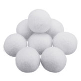 8Pcs/Set 2/3/4/5/7cm Natural Fabric Wool Dryer Ball Laundry Softener Wrinkle-free Dryer Ball