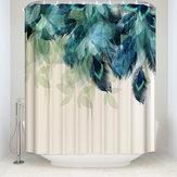 180X180CM Decorazioni acquerellabili Tenda per doccia in piuma di pavone Modello Tende per doccia da bagno in tessuto poliestere impermeabile