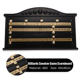 Plastic Billiards Scoreboard Snooker Game Scorer Board Player Número de cálculo de juguete