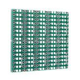 10 PCS SMT DIP Adapter Converter 0805 0603 0402 Kapasitor Resistor LED Pinboard FR4 Papan PCB 2.54mm Pitch SMD SMT Beralih Ke DIP