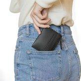 90FUN Portafoglio corto in pelle vintage portamonete portamonete portamonete portatile da viaggio