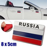 3D Aluminum Alloy Russia Flag Car Auto Stickers Decal Emblem 8 x 5cm
