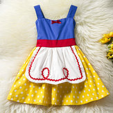 Baby Kid Girls Bowknot Dots Printed Sleeveless Princess Dress Costumes de Halloween