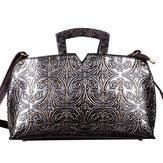 Women Handwork Knurling Retro Genuine Leather Handbag Crossbody Bag
