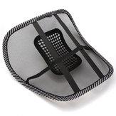 Cadeira de massagem assento de carro de volta malha apoio lombar ventilar almofada almofada