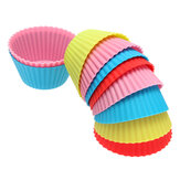 10Pcs Silicone Round Cake Muffin Chocolate Molds Cup Cake Cups