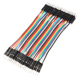 40pcs 30cm Male to Male Color Breadboard Cable Jump Wire Jumper