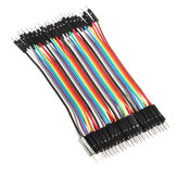 40pcs 20cm Macho para Macho Cor Breadboard Cable Jump Fio Jumper