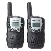 2 stuks T-388 0.5W UHF Auto Multi-Channels Mini Radios Walkie Talkie Black