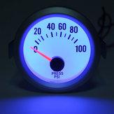 Nieuwe elektrische olie drukmeter wit gezicht blauwe LED