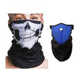 Moto visage cou ski masque chaud écharpe masque masque bleu et crâne
