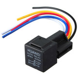 Black 12V 30/40 Amp Car Auto Relay With Wiring Harness And Socket