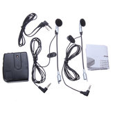 Motorrad Sturzhelm, um Helm Intercom Set 2 Headsets MP3 Eingang
