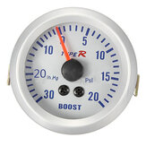 52mm Autometer Phantom Pointer Boost Vacuum Meter Gauge White