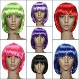 السيدات تأثيري بوب نمط قصير مستقيم الشعر المستعار