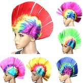 Halloween Cosplay Perücke Bunte Karneval Mohikaner Perücke Fancy Party Mohican Rocker Perücken