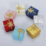 24pcs Bowknot Cube Jewelry Ring Earring Box Gift Box Hard Paper