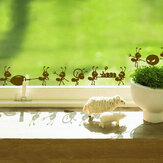Honana DX-013 Ants Moving Decorative Wall Art Stickers Black Brown Green