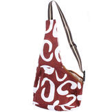 Brown White Pattern Oxford Portableb Pet Single Shoulder Bag