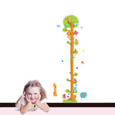 Removerable PVC Animal Height Wall Sticker Cartoon Height Sticker