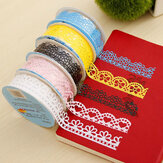 Dekorasi Lace Tape Hollowed Out Lace Adhesive Tape Adhesive Stiker