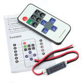 Controlador remoto 11Keys Mini Dimmer para Led Single Color Strip DC 12V