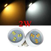 E14 cms 2W 5630 blanc / blanc chaud spot de LED ampoule 110v