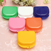 Dental Orthodontic Retainer Box Mouthguards Sport Guard Five Color Dentures Storage Case