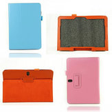 Lichee Pattern Folding Stand PU Leather Case For SAMSUNG T520