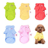 Yani HP-PC1 Multi-Colors Pure Cotton Pet Clothes Polo Shirt Dog Cat Clothing