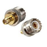 Alloy Steel UHF Female To SMA Female Jack RF Adapter Connector