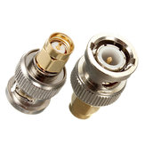 Alloy Steel BNC Male Plug To SMA Male Plug RF Adapter Connector