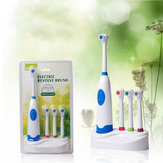 Waterproof Rotation Ultrasonic Electric Toothbrush With 3pcs Replacement Brush Head