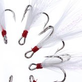 ZANLURE 10pcs/lot Treble Feather Fishing Baits Hooks Crank Lure Accessories