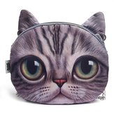 Donna Cute Cartoon Cat Head Modello Spalla Borsa Catena Cross Body Borsa