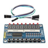 TM1638 Chip Key Display Module 8 Bits Digital LED Tube Geekcreit for Arduino - products that work with official Arduino boards