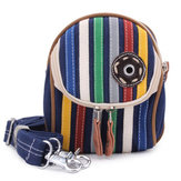 Fashion Unisex Causal Colellerful Striped Waist Bag Cross Body Bag